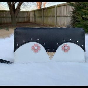 Kate spade frosty penguin large continental wallet